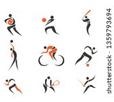 vector of some sport logo. | Shutterstock .eps vector #1359793694