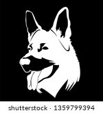 vector image of dog and...   Shutterstock .eps vector #1359799394