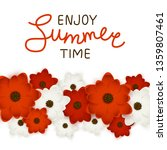 red and white flowers border... | Shutterstock .eps vector #1359807461
