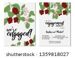 engagement invitation set with... | Shutterstock .eps vector #1359818027