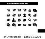 ecommerce icon set in solid...