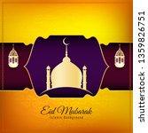 abstract islamic eid mubarak... | Shutterstock .eps vector #1359826751