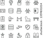 thin line vector icon set  ...   Shutterstock .eps vector #1359831014
