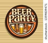logo for beer party  dark round ... | Shutterstock . vector #1359839471