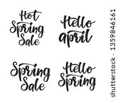 lettering set hot spring sale.... | Shutterstock .eps vector #1359846161