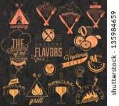 retro vintage style restaurant... | Shutterstock .eps vector #135984659