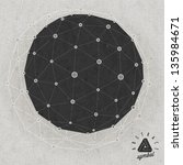retro vintage style icosahedron ... | Shutterstock .eps vector #135984671