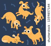 dog character in doodle style   Shutterstock .eps vector #1359857144