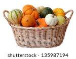 Mini Pumpkins And Gourd In...