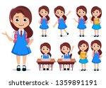 student girl vector character... | Shutterstock .eps vector #1359891191