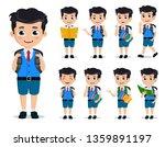 school kids vector characters... | Shutterstock .eps vector #1359891197