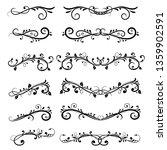 dividers. filigree floral... | Shutterstock . vector #1359902591