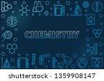 chemistry vector blue... | Shutterstock .eps vector #1359908147