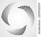 lines in circle form . spiral... | Shutterstock .eps vector #1359910274