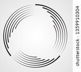lines in circle form . spiral... | Shutterstock .eps vector #1359910304