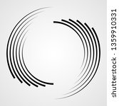 lines in circle form . spiral... | Shutterstock .eps vector #1359910331