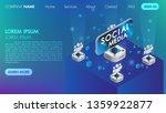virtual reality social media... | Shutterstock .eps vector #1359922877