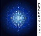 vector illustration of sacred... | Shutterstock .eps vector #1359938174