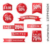 red discount pack design promo | Shutterstock .eps vector #1359940604
