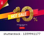 shine golden sale 10  off with... | Shutterstock .eps vector #1359941177