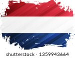 flag of the netherlands brush... | Shutterstock .eps vector #1359943664