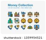money icons set. ui pixel...