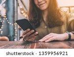 closeup image of a beautiful... | Shutterstock . vector #1359956921