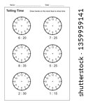 telling time telling the time... | Shutterstock .eps vector #1359959141