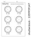 telling time telling the time... | Shutterstock .eps vector #1359959147