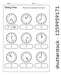 telling time telling the time... | Shutterstock .eps vector #1359959171