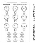 telling time telling the time... | Shutterstock .eps vector #1359959174