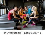 group pf young people in... | Shutterstock . vector #1359965741