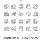 paper and electronic maps well... | Shutterstock .eps vector #1359970097