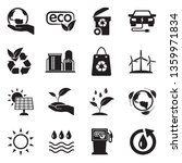 ecology icons. set 2. black... | Shutterstock .eps vector #1359971834