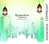 abstract ramadan kareem islamic ... | Shutterstock .eps vector #1359981647