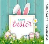 easter cover with easter eggs ... | Shutterstock .eps vector #1359997097