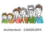 illustration material  family... | Shutterstock .eps vector #1360001894