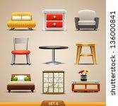 furniture icons set 6 | Shutterstock .eps vector #136000841