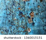 grunge and cracked blue... | Shutterstock . vector #1360015151