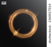 abstract gold circle light... | Shutterstock .eps vector #1360017014