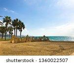 malaga  spain. panoramic view... | Shutterstock . vector #1360022507