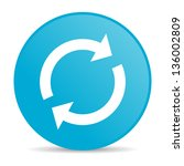 reload blue circle web glossy... | Shutterstock . vector #136002809