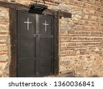 door of a church with white... | Shutterstock . vector #1360036841