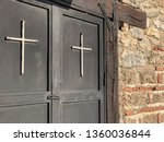 door of a church with white... | Shutterstock . vector #1360036844
