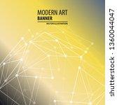 modern art abstract banner.... | Shutterstock .eps vector #1360044047