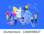 little people characters around ... | Shutterstock .eps vector #1360058027