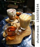 hot coffee and tea. mocha and... | Shutterstock . vector #1360058144