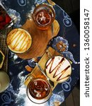 hot coffee and tea. mocha and... | Shutterstock . vector #1360058147