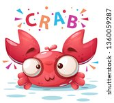 crazy crab   cute cartoon... | Shutterstock .eps vector #1360059287