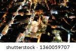 aerial drone night shot of... | Shutterstock . vector #1360059707